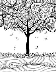 12 fall coloring pages adults tree fall crafts