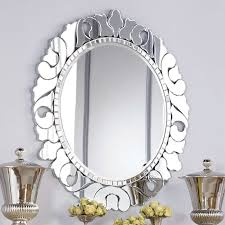 silver round mirrors for walls vanity decoration