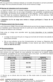 chambre des metiers 44 stage prealable a l installation pdf