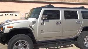 hd video 04 hummer h2 pewter chrome for sale see www sunsetmotors
