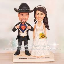 cowboy wedding cake toppers superman pose western cowboy theme wedding cake toppers