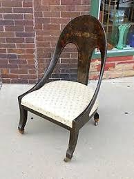 Antique Accent Chair Aesthetic Movement Antique Curve Back Accent Chair Ebay