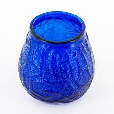 blue tea light candles victorian glass candle holder
