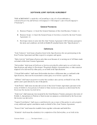 Sample Investment Agreement Construction Joint Venture Agreement Template