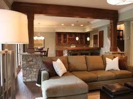 small post and beam homes how to hide a support beam in the ceiling load bearing living room