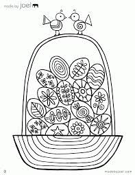 empty easter basket coloring page 481127
