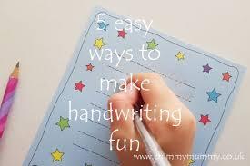 5 easy ways to make handwriting fun confessions of a crummy mummy