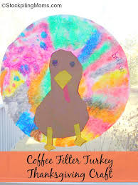 coffee filter turkey thanksgiving craft1 jpg