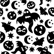 halloween background ghosts seamless halloween pattern with ghosts u2014 stock vector lillllia