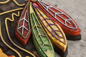 chicago blackhawks handmade distressed wood sign vintage art
