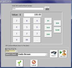 gift card software gift certificate and gift card feature of salon software salon