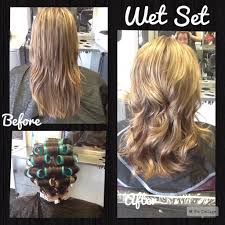 wetset hair styles wet set on long hair using teal tan rods and pin curls in the nape