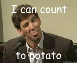 Eli Manning Memes - i can count to potato eli manning happy face quickmeme