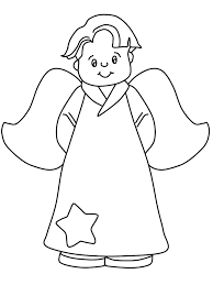 little boy angels coloring pages print coloring pages