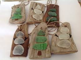 driftwood and glass ornaments ornaments