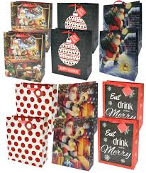 amazon com fortune bags 36ct holiday gift bags handles u0026 tags