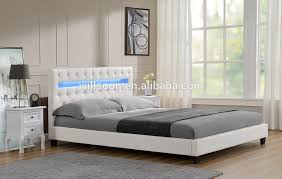 Led Bed Frame Chesterfield Style Size Upholstered Headboard Led Pu Bed 1107