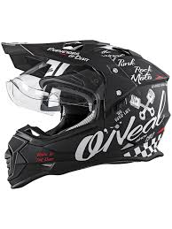 motocross protection gear oneal black white 2018 sierra ii torment mx helmet oneal