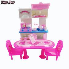 barbie kitchen furniture aliexpress com buy 20 pcs set dolls dining table kitchen