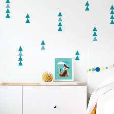 Fabric Wall Decals For Nursery Removable Wall Decal Eco Friendly Home Decor Triangle