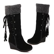 s wedge boots wedge heels fold lace up mid calf boots novashe com