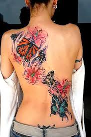 Meaningful Butterfly - butterfly tattoos on back flower tattoos and tatting