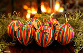 cotton ornaments set of 6 peace wish novica