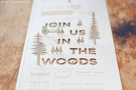 three rustic organic wedding invitations at home with vallee