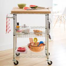 amazon com trinity ecostorage bamboo kitchen cart kitchen