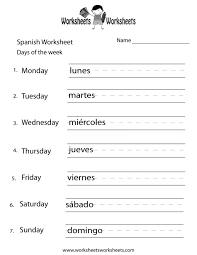 days of the week worksheet kindergarten general worksheets