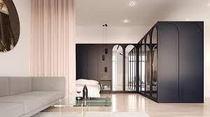 minimalist apartment interior design combines a simple range of