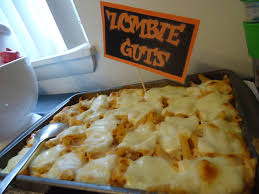 zombie guts baked ziti halloween dinner things i have made