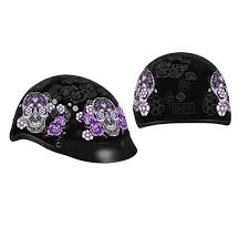 ladies motorcycle helmet leathers sugar skull d o t helmet