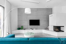 Modern Home Furniture Minimalist Home Uses Aqua To Accent Angles Freshome