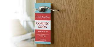 Dimensions For Business Cards Custom Door Hangers Vistaprint