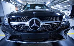 pink mercedes truck german car makers u0027 shares crash on allegations of collusion