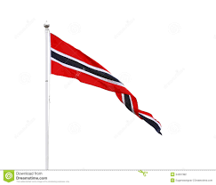 Norweigan Flag Norwegian Triangle Pennant Flag Isolated Stock Photo Image Of