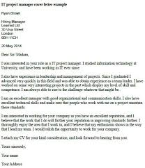 Sle Resume Cover Letter Project Manager it project manager cover letter exle project