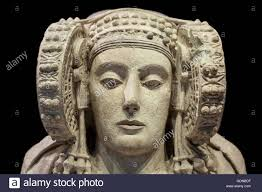 lady of elche most important piece of iberian art isolated over