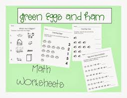 green eggs and ham worksheet worksheets