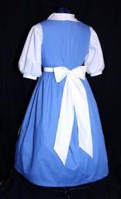 Belle Halloween Costume Blue Dress Thinking Running Costume Princess White