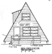 a frame blueprints a frame house plan with deck