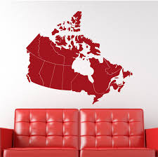 United States Map Wall Decal by Wall Decal Canada Map 36w Wall Decal