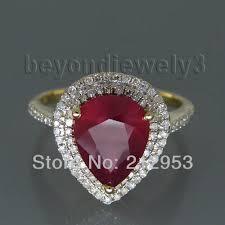vintage rings aliexpress images Buy vintage ruby diamond gold ring 585 yellow jpg
