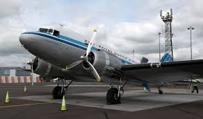 first ever commercial aircraft the dc3 lands at newcastle airport