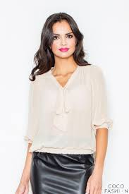 elastic waist blouse self tie bow elastic waistband blouse