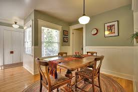 san francisco board and batten dining room craftsman with heating