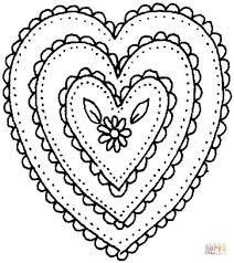 heart shaped ornament coloring free printable coloring pages