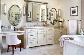 master bath with double vanity u0026 makeup vanity traditional