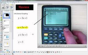 graphing inequalities ti 83 youtube